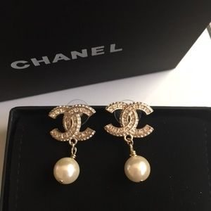 Pearl dangle Chanel earrings